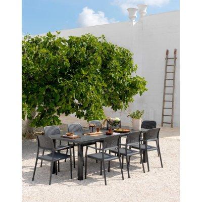 tavolo levante colore antracite con 8 sedie bora