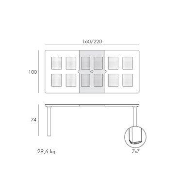 scheda tecnica tavolo levante