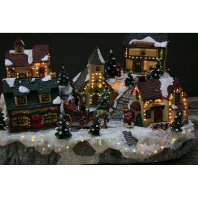 Paesaggio di Natale con luci