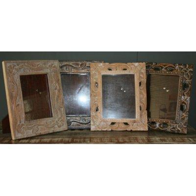 Porta foto in legno intarsiato a mano