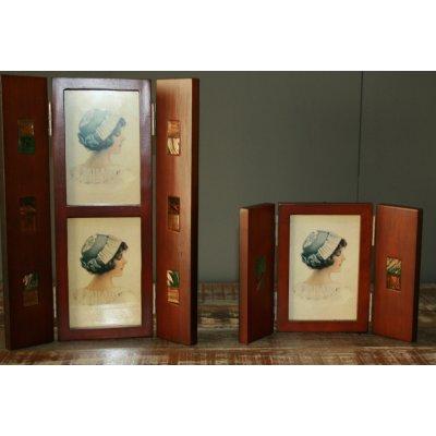 Porta foto in legno a forma di separe