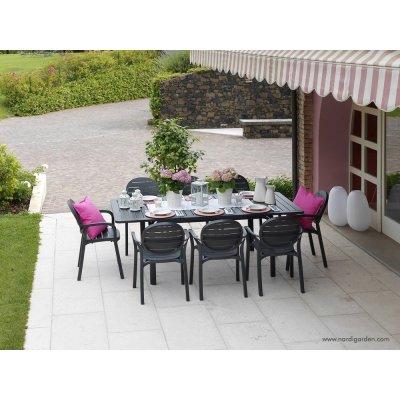 set tavolo Alloro e sedia Palma colore antracite