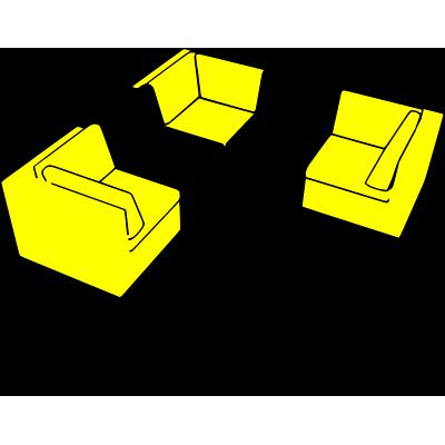posizionamento modulo terminale o angolo salotto Verano
