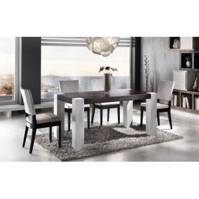tavolo e sedia Tesla bianco e nero