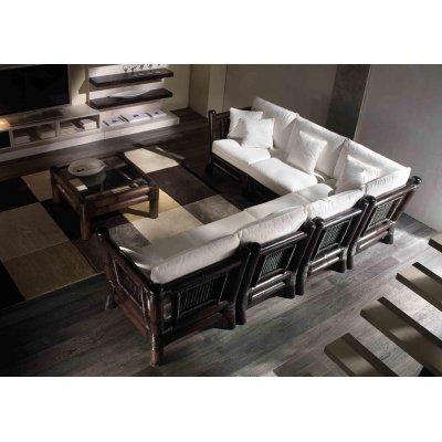 composizione Kyoto: modulo angolo e terminale modulo centrale tavolino - tessuto import