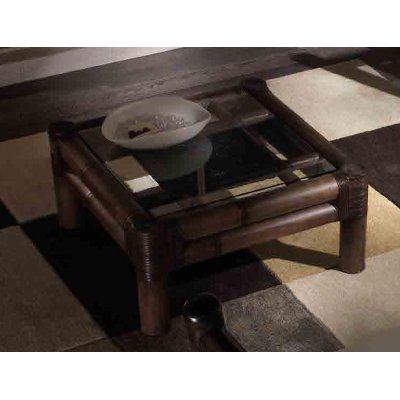 tavolino Kyoto con vetro - nero