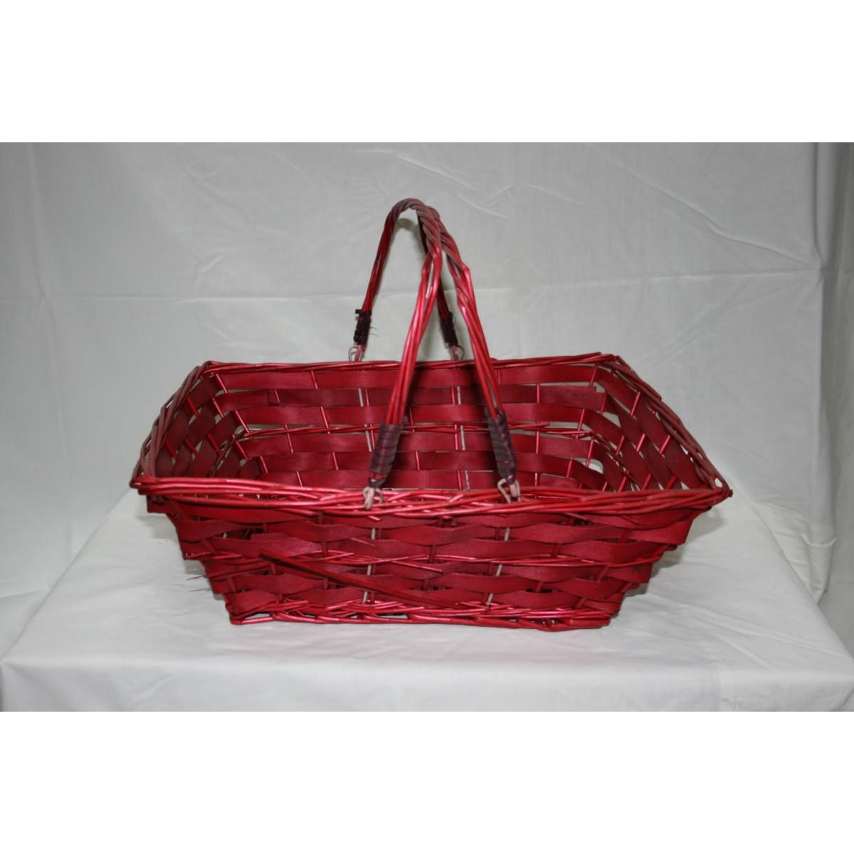cesto natalizio Bologna colore rosso