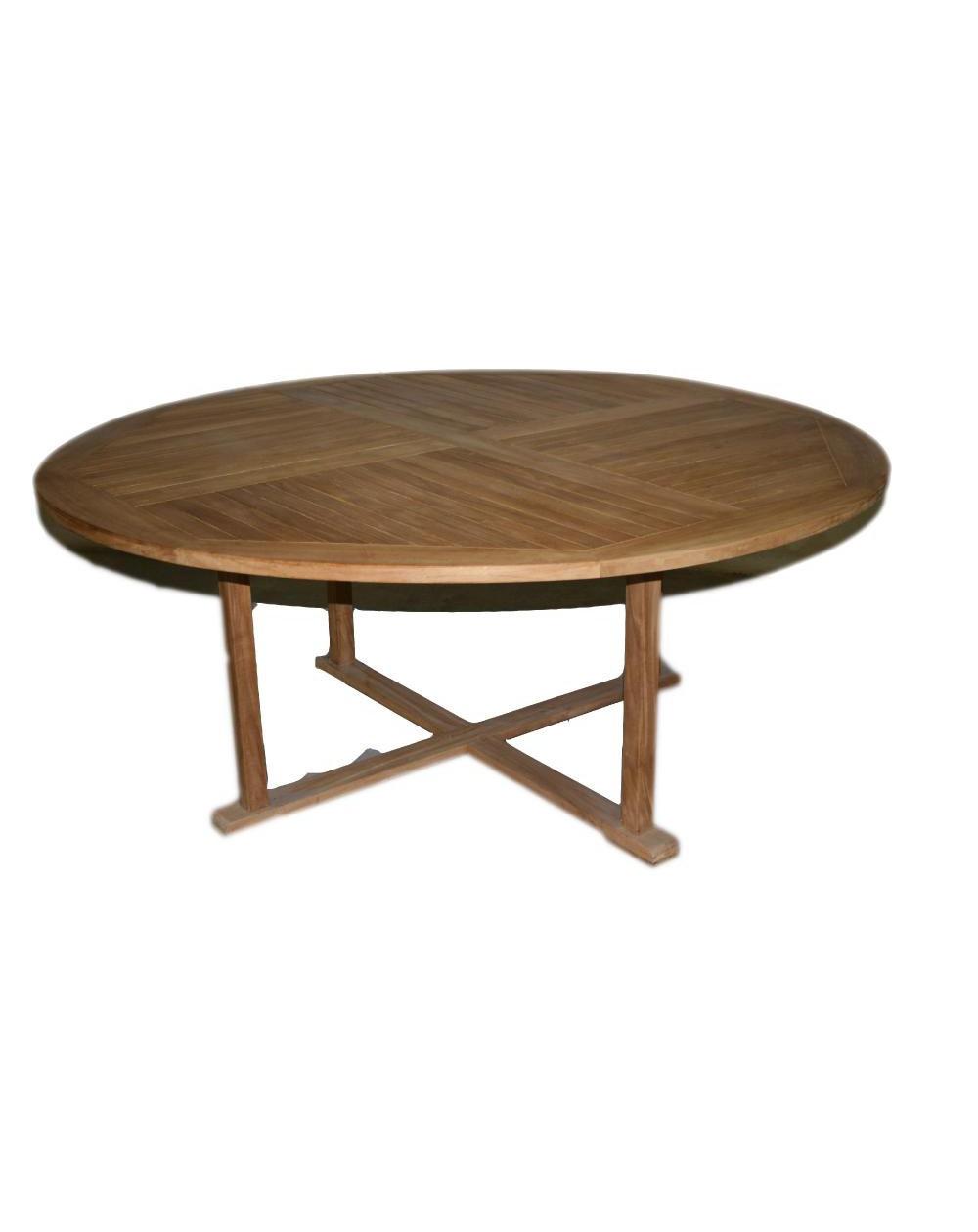 """tavolo rotondo in tek """"A"""""""