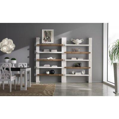 montante laterale e centrale libreria Light e mensole Essential