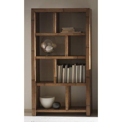 libreria Essential 8 vani con struttura miele antico