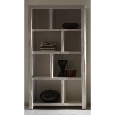 libreria Essential 8 vani con struttura bianca