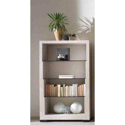 libreria Glass  4 vani colore bianco