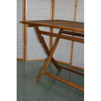 particolare tavolo abbattibile da 70 x 120 aperto