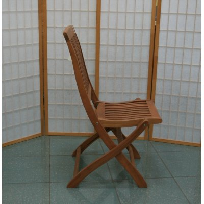 sedia pieghevole in balau