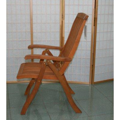 sedia reclinabile in balau 5 posizioni