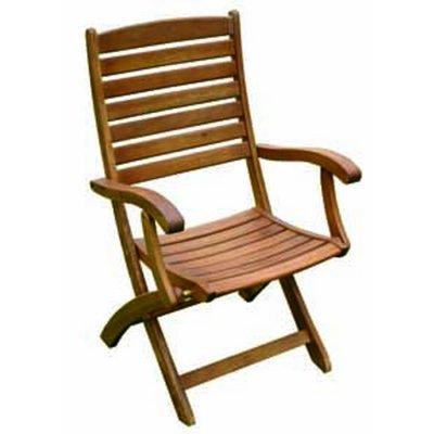 sedia Monterna pieghevole in balau