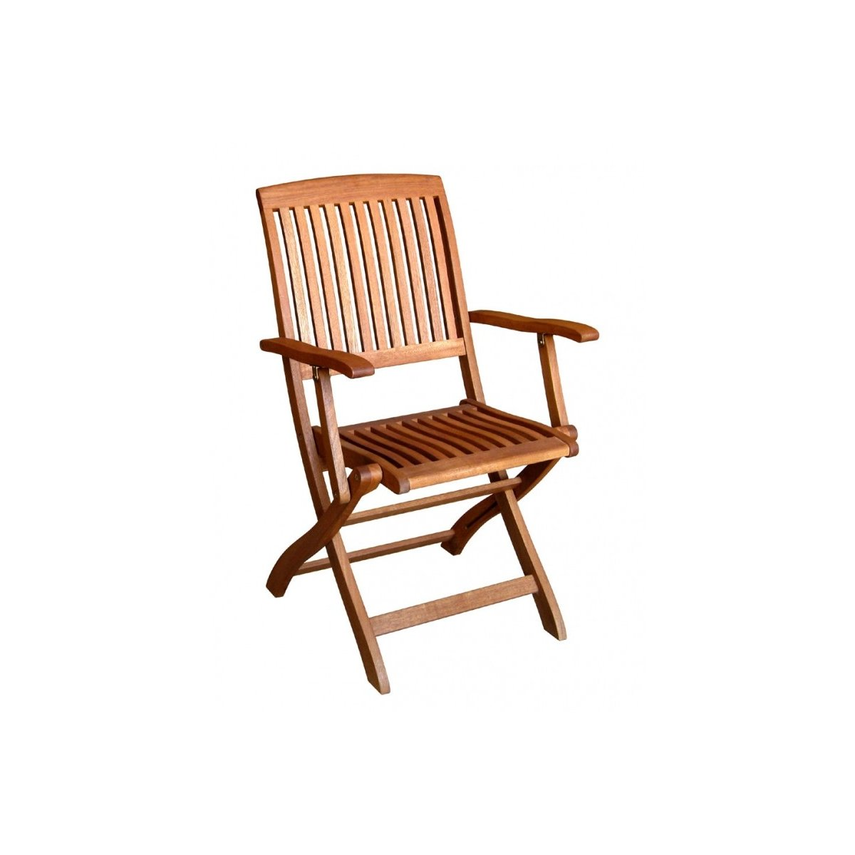 sedia pieghevole Tahiti con braccioli in balau
