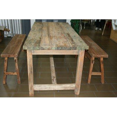 tavolo Old Wood e panche Telgede