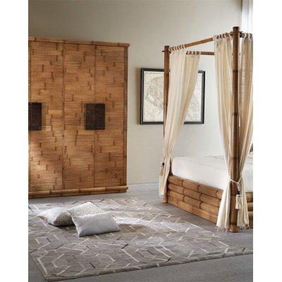 particolare armadio tsu e letto monsoon contenitore con baldacchino