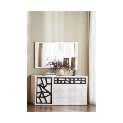 specchio Miring decapato bianco