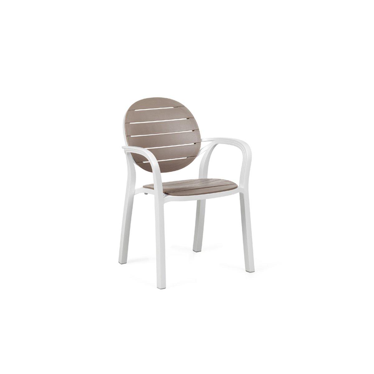 sedia Palma colore bianco tortora