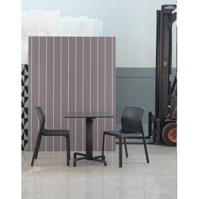 sedia bit colore antracite, tavolino base Ibisco pieghevole