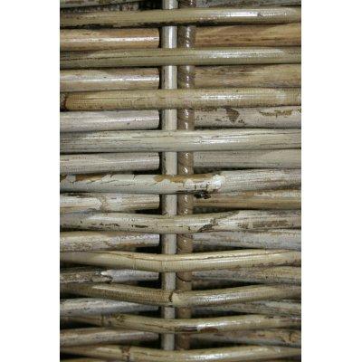 particolare cesto portalegna Vicenza in giunchino grigio