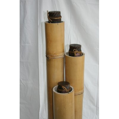 porta candele bambù naturale particolare