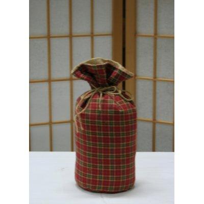 Ferma porta a forma di sacchetto in juta e stoffa