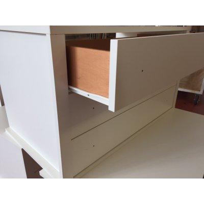 cassettiera interna 3 cassetti 2 vani grezza