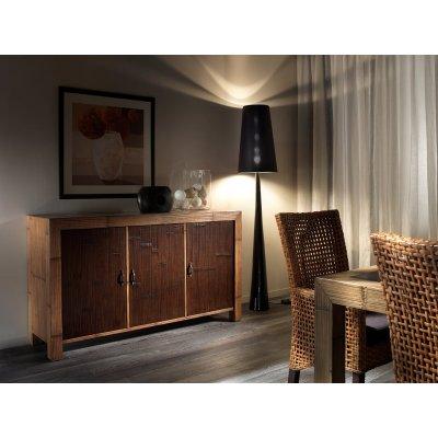 tavolo Hotel miele antico e nero, sedia Cemara