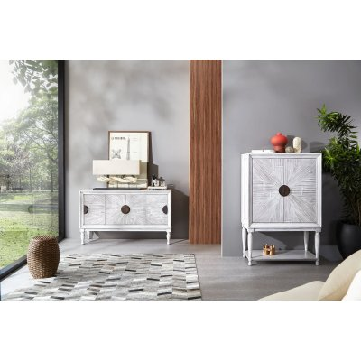 dispensa e credenza serie  Rey in crash bambù grigio