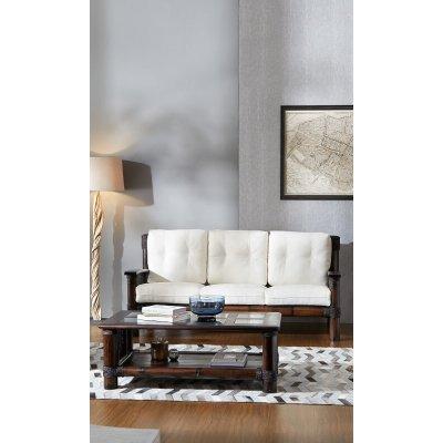 divano 3 posti Tropicana, tessuto import, telaio colore nero