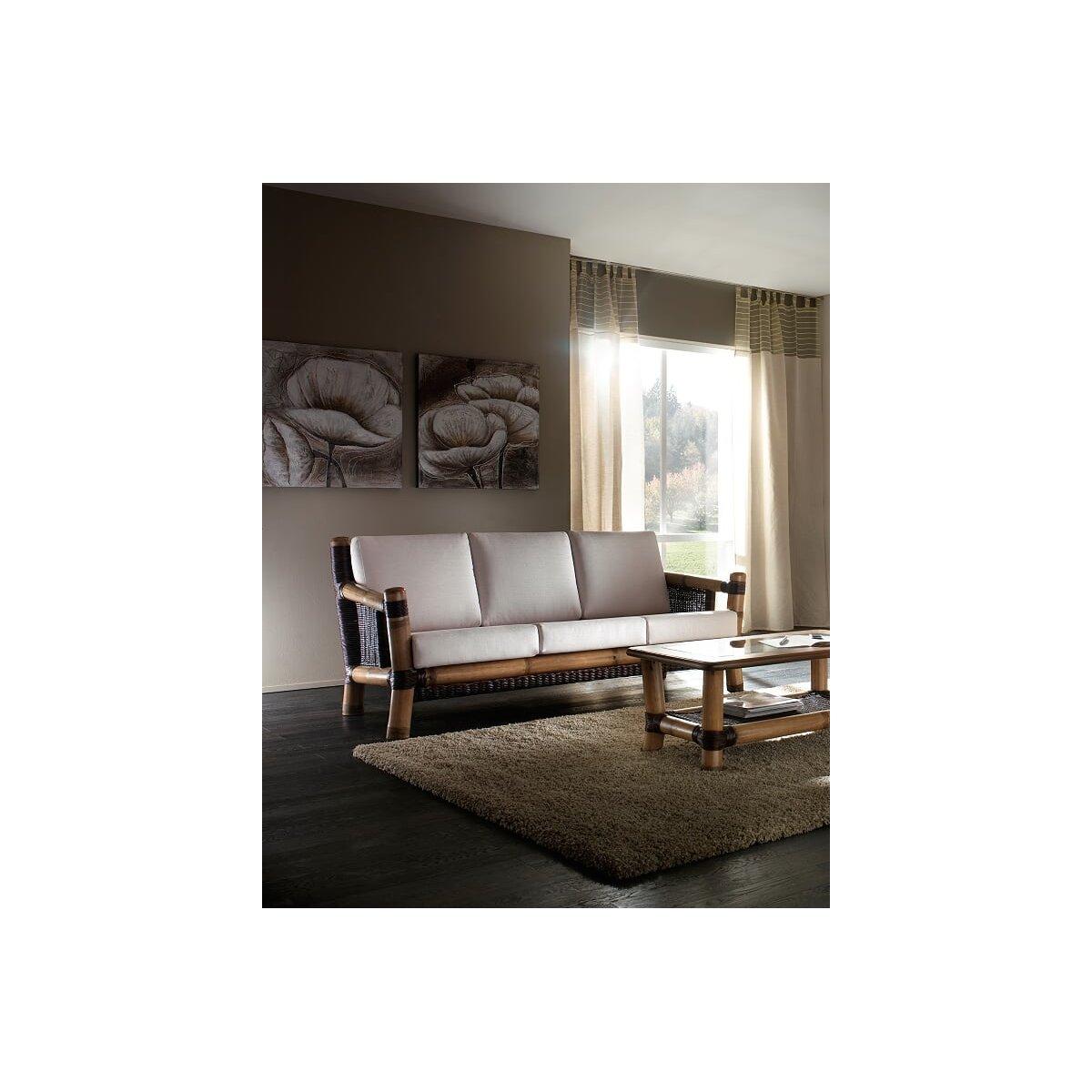 divano 3 posti Surya, tinta miele antico e croco, tessuto cat. A
