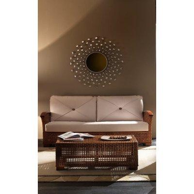 tavolino Cemara, corteccia legno colore miele antico