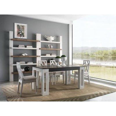 tavolo Light allungabile bianco e nero