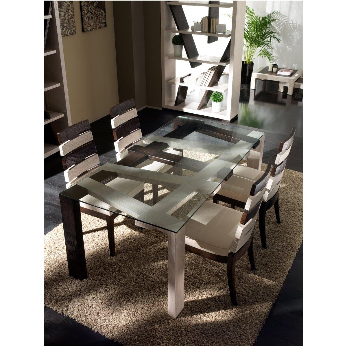 tavolo Cross bianco e nero