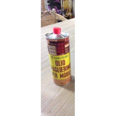 confezione da litro di olio paglierino