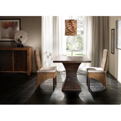 base tavolo Clessidra con piano quadrato impiallacciato frassino da cm 100 x 100