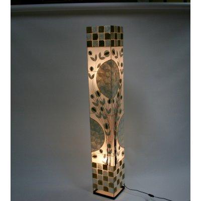lampada Fiori e Foglie in madreperla