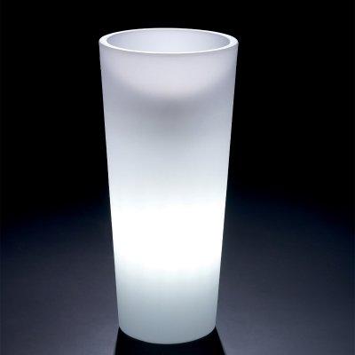 cache-pot Genesis Rotondo Alto con luce