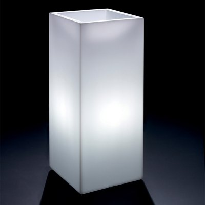 cache-pot osmos quadrato alto con luce