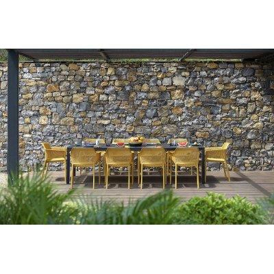 tavolo Rio Alu 210 extensible antracite con sedie net