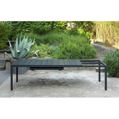 tavolo Rio Alu 210 extensible antracite - particolare estensione gambe