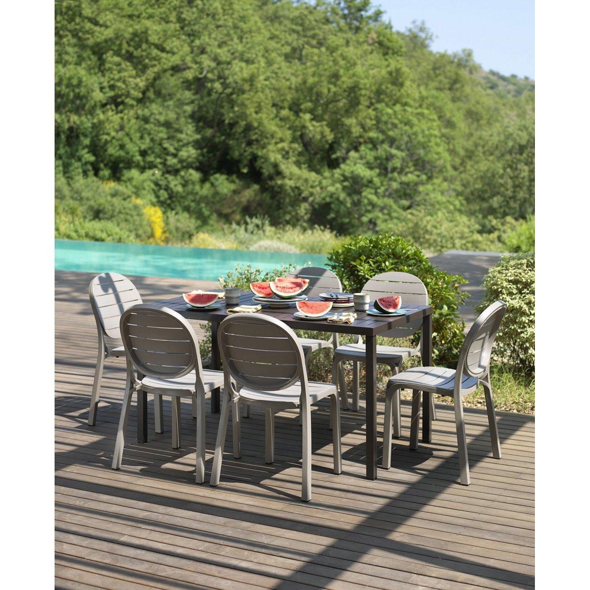 tavolo Cube 140 x 80  con sedie Erica