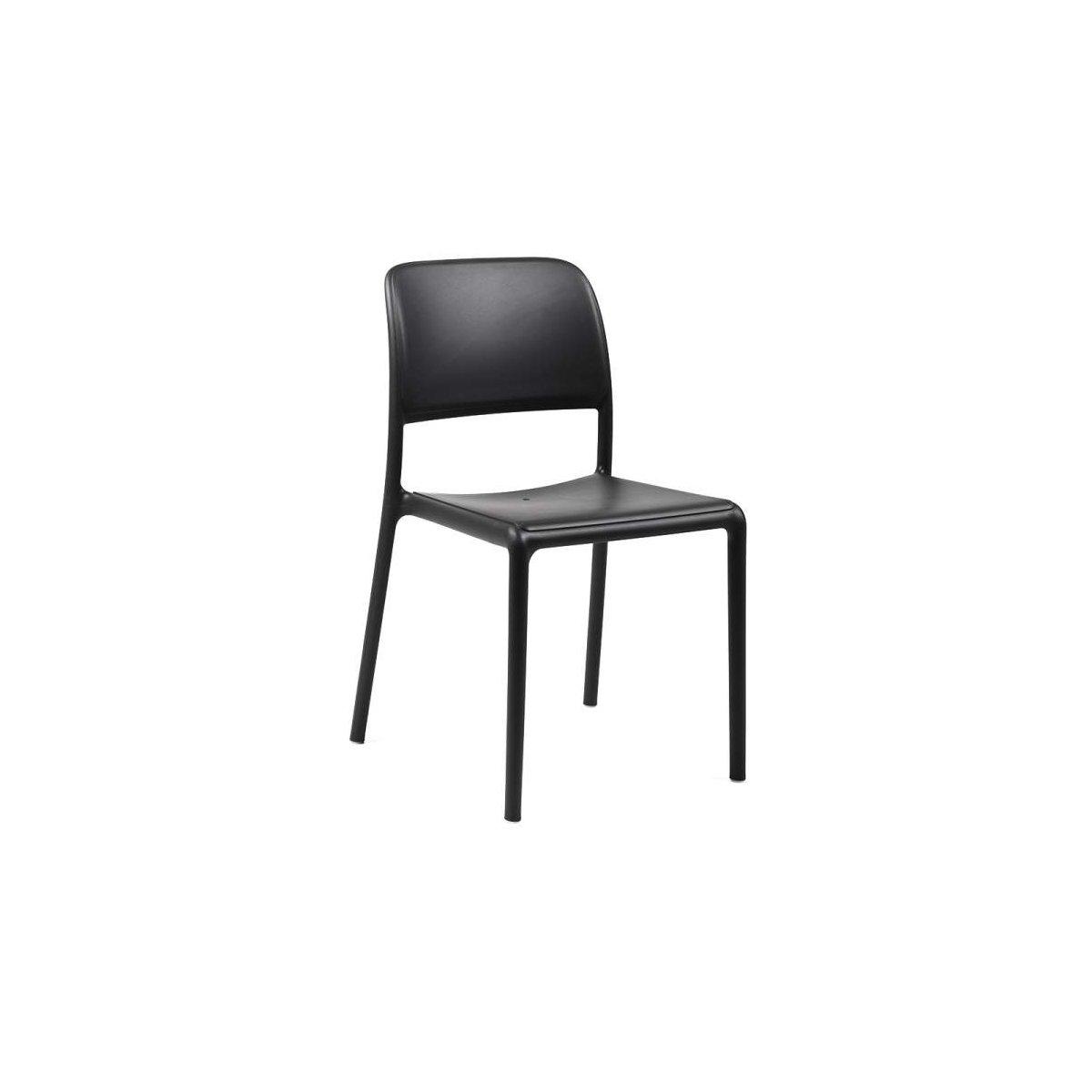 sedia Riva Bistrot colore antracite