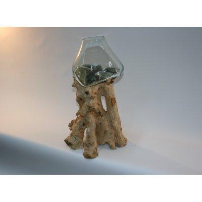 vaso Industrial con base legno grande