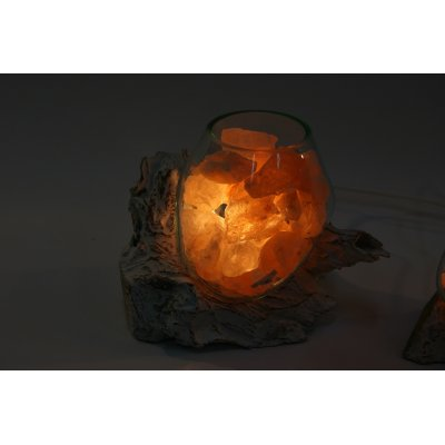 lampada di sale Unica radice bianca codice 075
