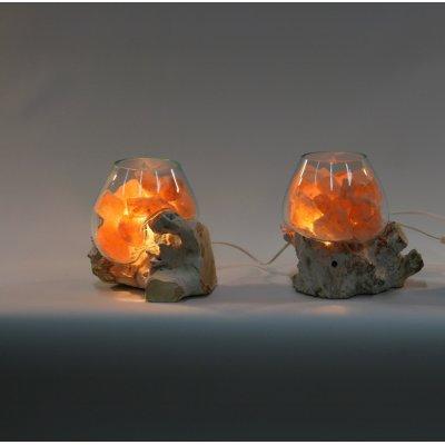 lampada di sale Unica radice bianca codice SAL076