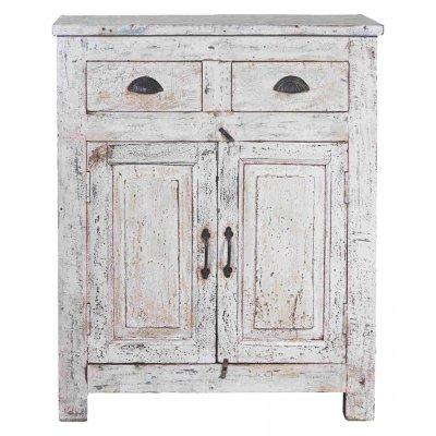 cabinet sbiancato 2 cassetti 2 sportelli